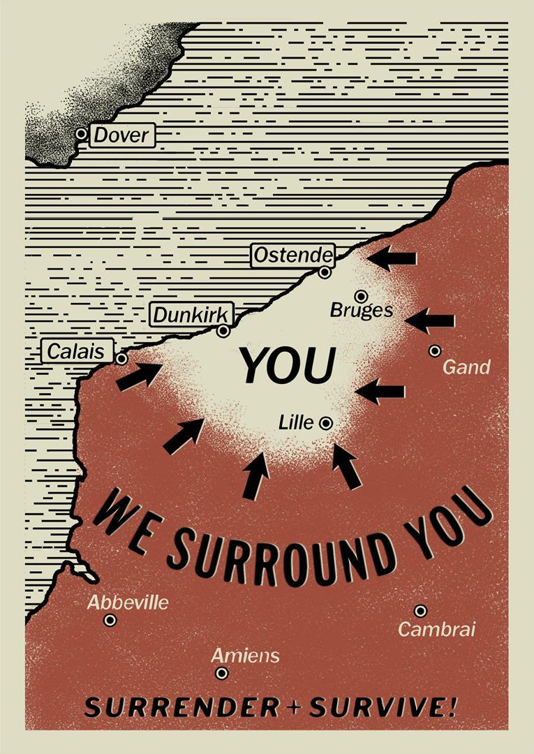 Dunkierka mapa natarcia - oficjalne materiały Warner Bros